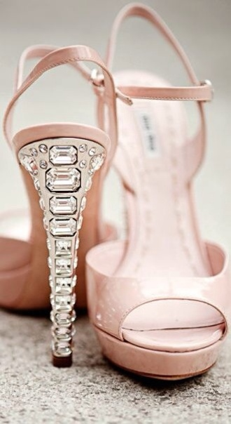 diamonds jewels shoes high heels heels pink pink shoes fashion style girly