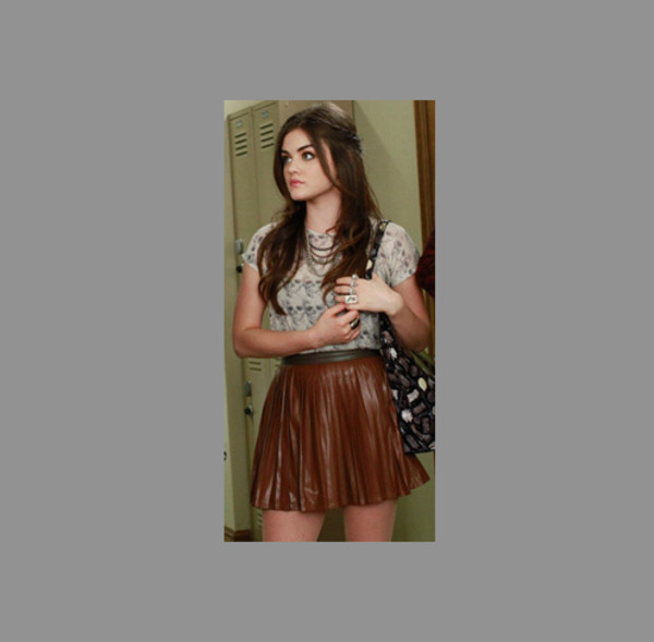 shirt aria tv cute lucy hale girl aria montgomery pretty little liars abcfamily skirt ruffle lucy hale girly tumblr tumblr girl blouse
