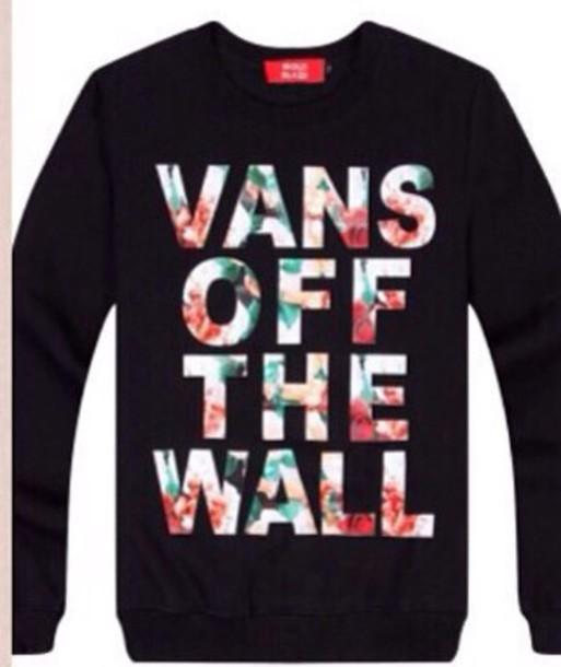 sweater vans sweatshirt