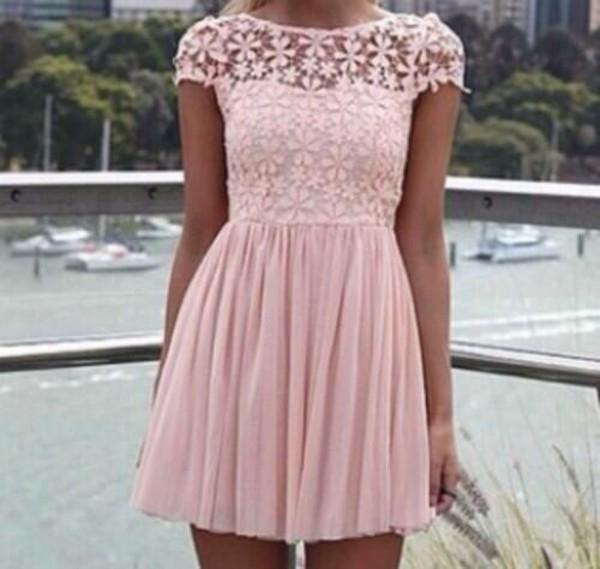 skater pink dress dress cute dress