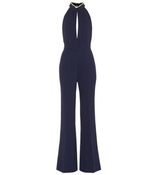 Roksanda Ruscha crêpe jumpsuit in blue
