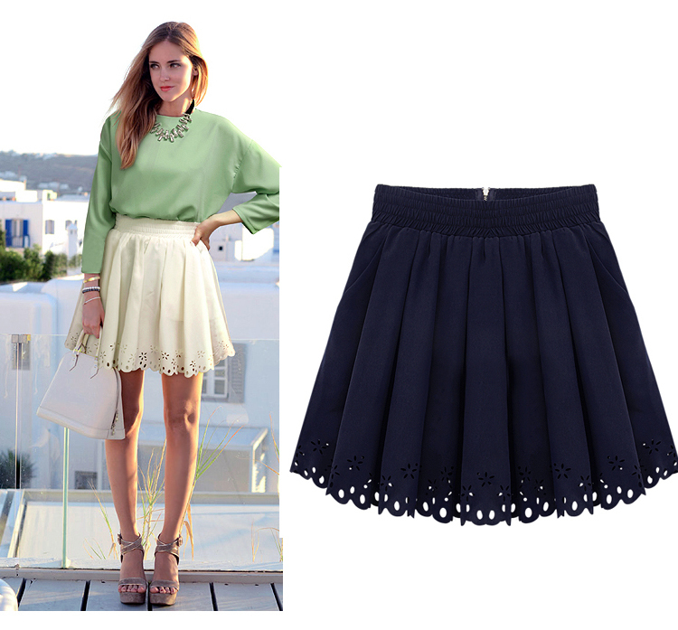 2013 European Summer Fashion Brand Women Mini Skirt Lace Pleated Short Dark Blue White Sexy Club Design Woman Skirts Plus Size on Aliexpress.com
