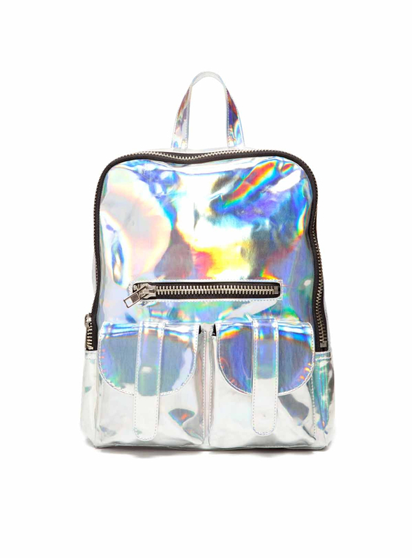 Free Shipping Silver Hologram Laser Backpack Bag Handbag Multicolor Silver Business Zipper Backpack-in Casual Daypacks from Luggage & Bags on Aliexpress.com | Alibaba Group