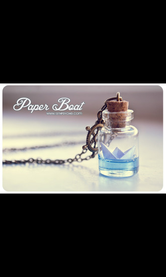 jewels bottle necklace bottle necklace boat sea