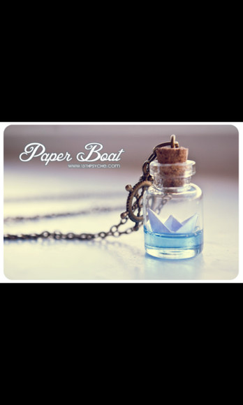 necklace jewels bottle bottle necklace boat sea