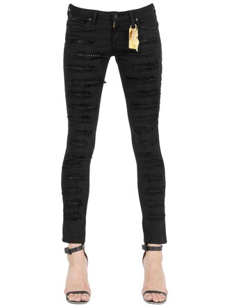 jeans denim studded black