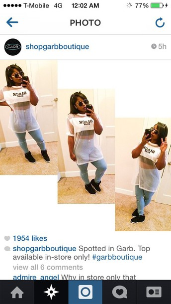 jeans reginae carter hair accessory blouse exactly like the picture shirt white
