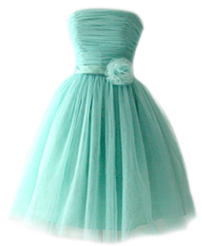 PrettyDresses Women's Strapless Short Sleeveless Prom Dresses at Amazon Women's Clothing store: