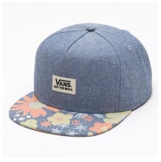 hat snapback cap flat blue vans
