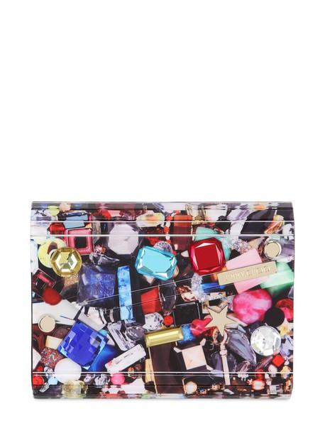 Jimmy Choo embellished candy clutch bag