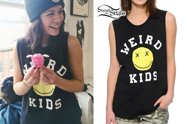 shirt wierd kids fashion sleeveless