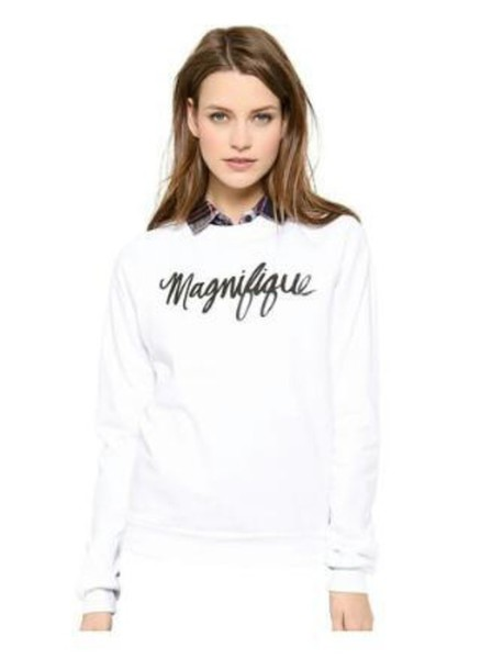 shirt magnifique pullover soft white sweater french