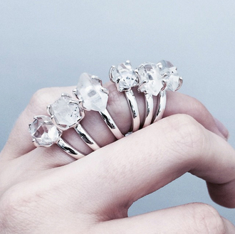 jewels crystal quartz quartz ring diamonds crystal quartz boho hippie festival festival jewelry gypsy boho chic dixi shopdixi shop dixi gypset herkimer sterling diamond rings herkimer diamond festivalfashion sterling silver sterling silver ring diamond ring