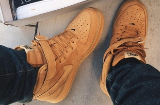 brown shoes nike shoes brown nike shoes chesnut shoes chesnut air forces