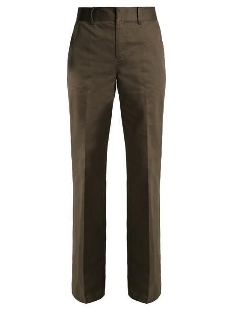 FRAME high dark khaki pants