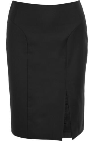 skirt 100 wool black