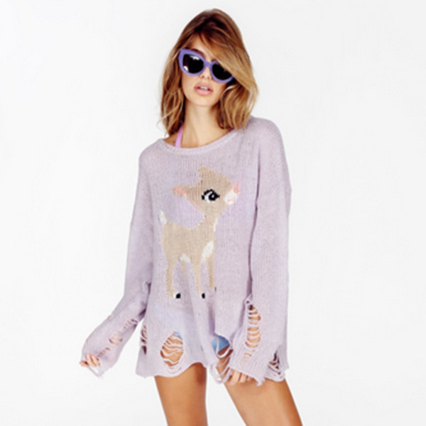 WILDFOX LITTLE HELPER LENON SWEATER PERIWINKLE - Ad Hoc London