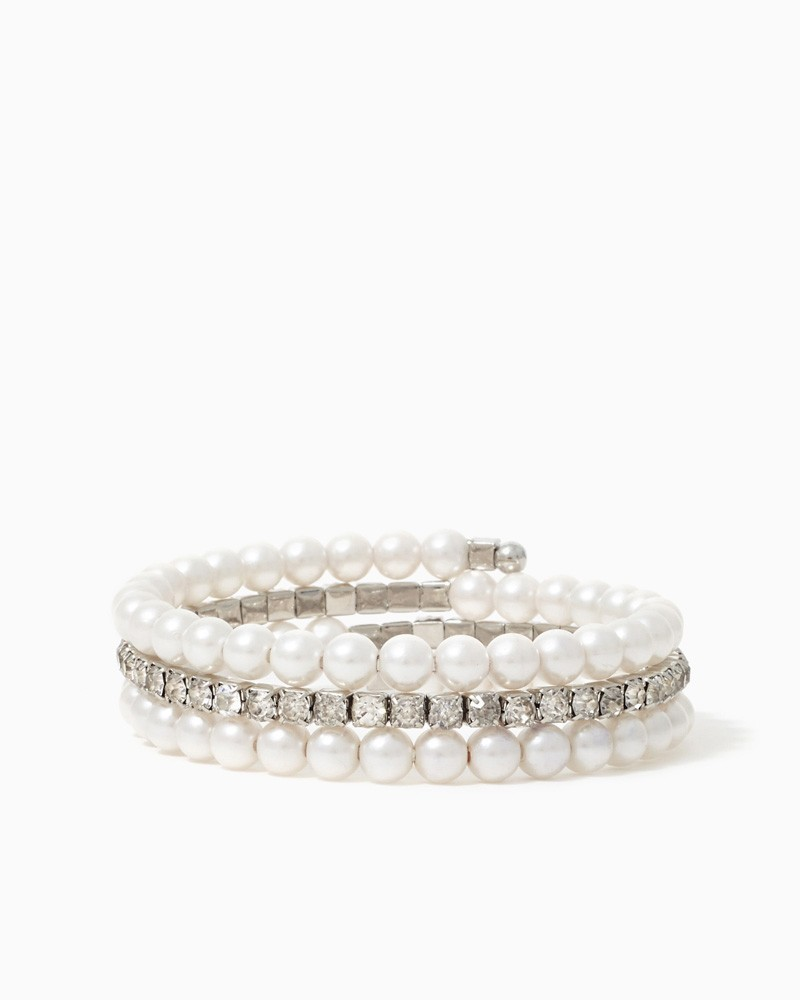 Pearl & Stone Coil Bracelet | Jewelry - Mother's Day, Special Occasion | charming charlie