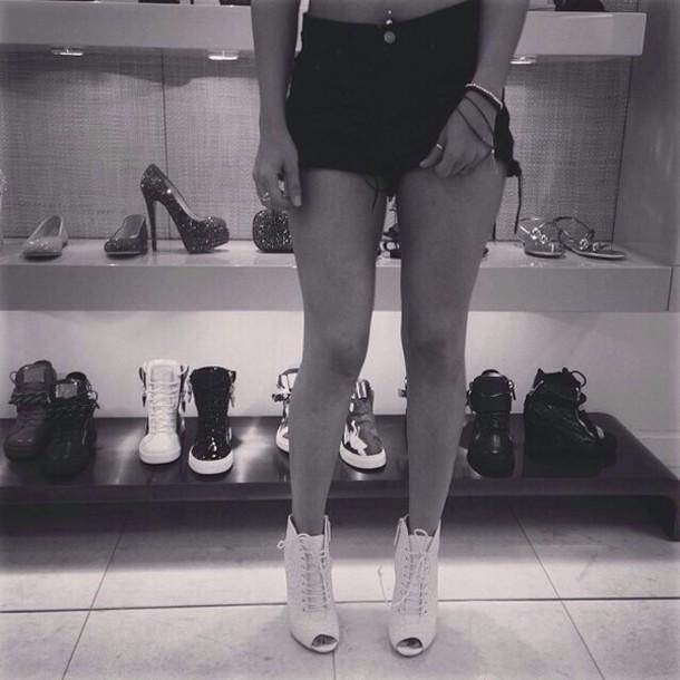 shoes lace tan cute