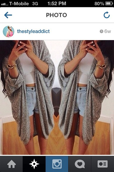 simple sweater grey long