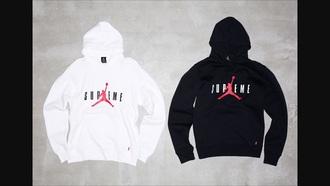 sweater supreme air jordan hoodie white black