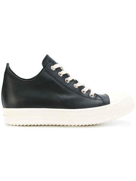 Rick Owens women sneakers lace leather black shoes