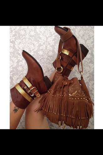 shoes boots gold brown