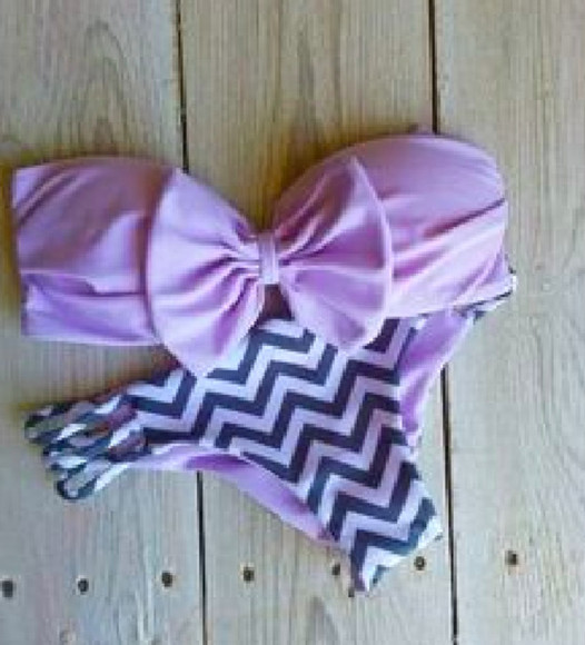 swimwear patterned bikini bottoms bikini bottoms cheeky purple swim cute pretty stripes chevron stripes