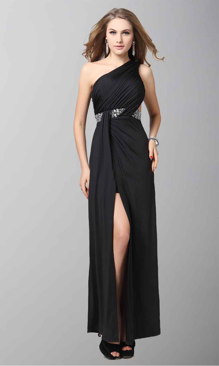 Agreeable Black One Shoulder Split Formal Dresses KSP049 [KSP049] - £98.00 : Cheap Prom Dresses Uk, Bridesmaid Dresses, 2014 Prom & Evening Dresses, Look for cheap elegant prom dresses 2014, cocktail gowns, or dresses for special occasions? kissprom.co.uk offers various bridesmaid dresses, evening dress, free shipping to UK etc.