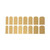 MAT SHINY GOLD NAIL STICKERS – HolyPink