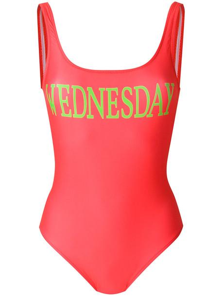 Alberta Ferretti - Rainbow Week swimsuit - women - Polyester/Spandex/Elastane/Nylon - 40, Red, Polyester/Spandex/Elastane/Nylon