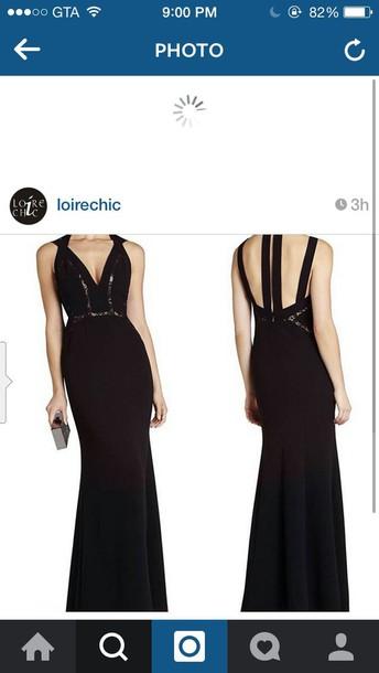 dress black evening dress