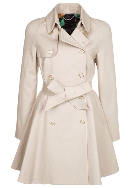 ac8234e93a8927 coat ted baker carisa beige trench coat