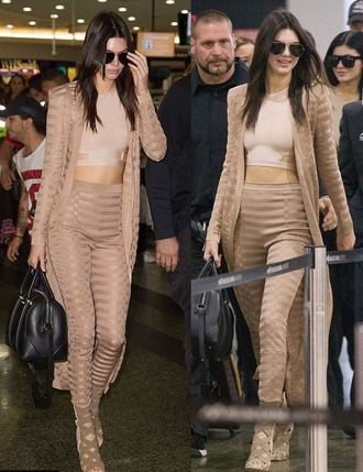 pants top leggings cardigan coat all nude everything crop tops kendall jenner sandals