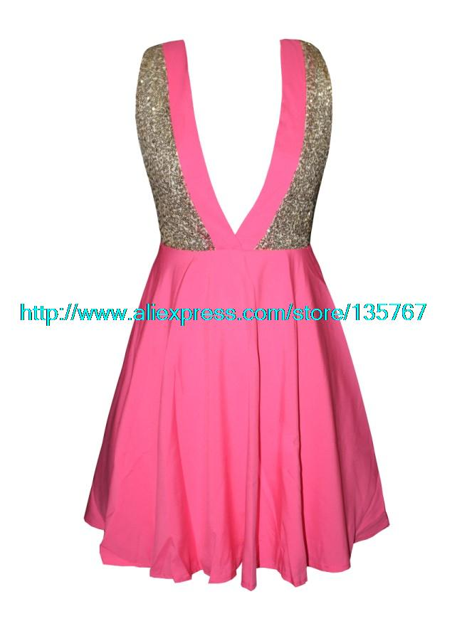 Aliexpress.com : Buy Free Shipping Sequins cross back dress from Reliable sequin collar dress suppliers on ED FASHION