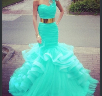 dress baby blue prom dress gold belt maxi dress belt prom red mermaid green dress aqua dress blue dress long dress