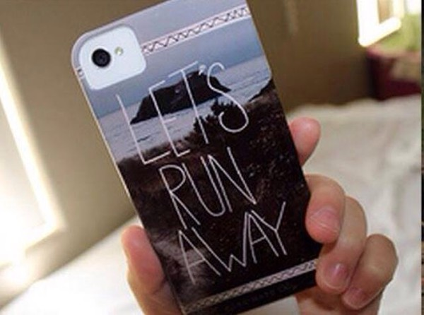 phone cover lets run away phone phone cover phone cover lets run away