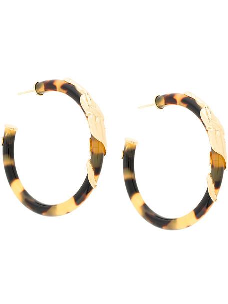 Gas Bijoux Cobra hoop earrings - Brown