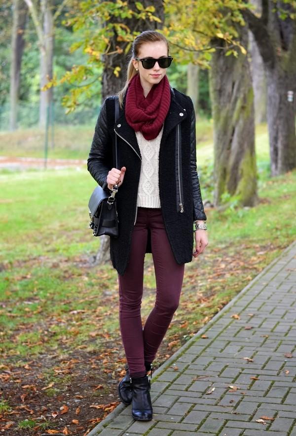 vogue haus sweater coat shoes bag jewels sunglasses scarf