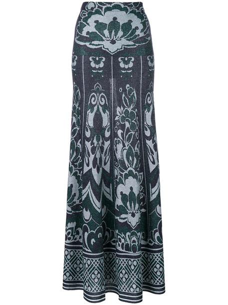 Circus Hotel skirt maxi skirt maxi glitter women floral blue