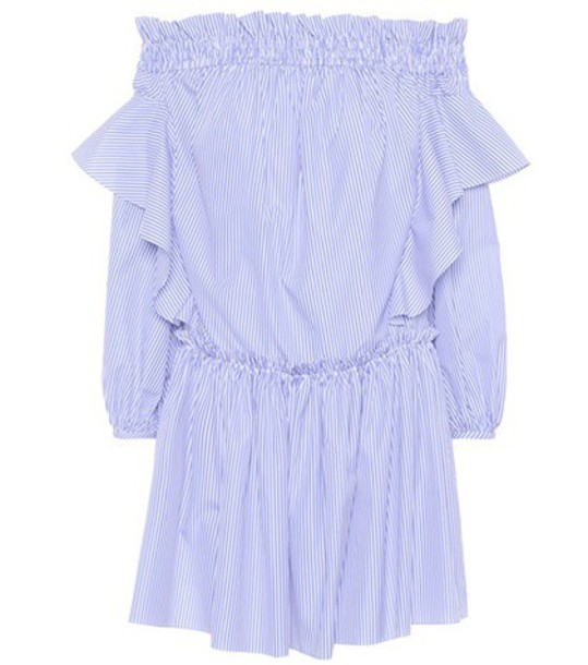 Alexander Mcqueen dress cotton blue