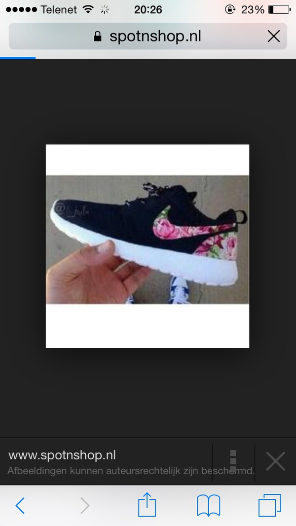 099333e62c90 Nike Roshe Run Black White Rose Garden Batch Floral Print Custom Womens