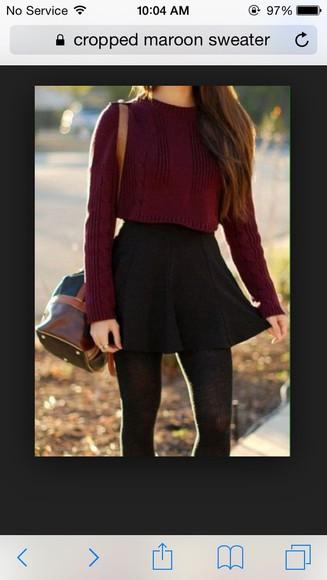 cropped burgundy