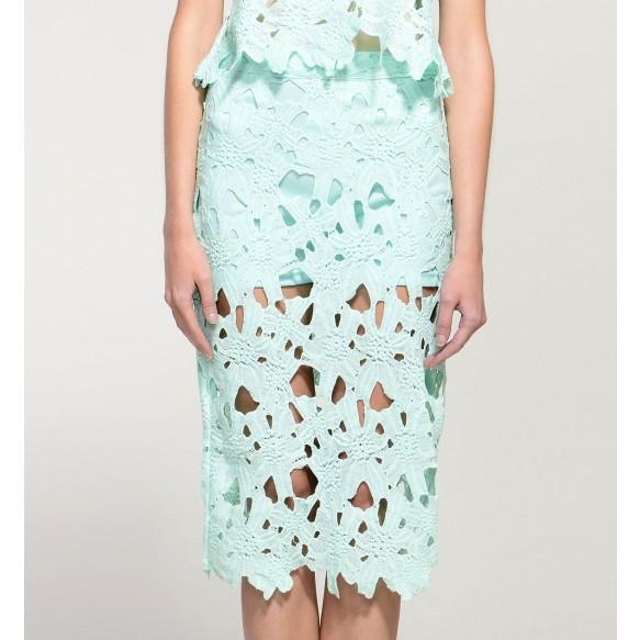 Sheer Lace Crochet Skirt