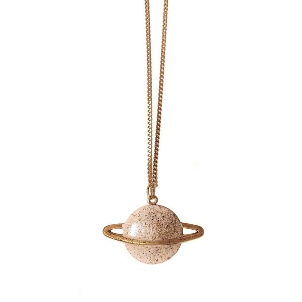 Saturn necklace pink by après ski