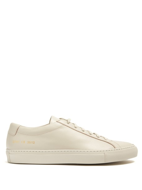 Common Projects top leather light grey