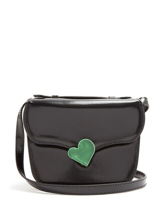 cross mini midi bag leather black green