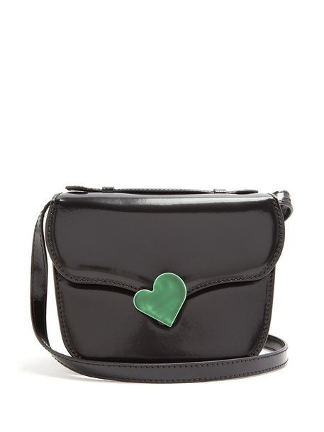 MARNI cross mini midi bag leather black green