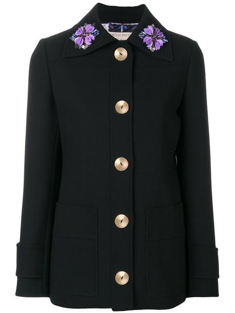 Emilio Pucci jacket women floral black wool