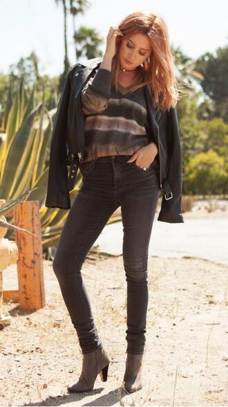 top jeans jacket ashley tisdale fall outfits